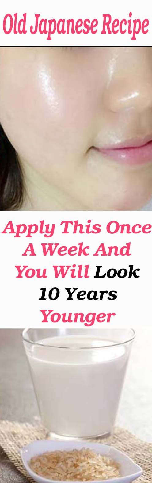 Old Japanese Recipe: Apply This Once A Week And You Will Look 10 Years Younger – Let's Tallk