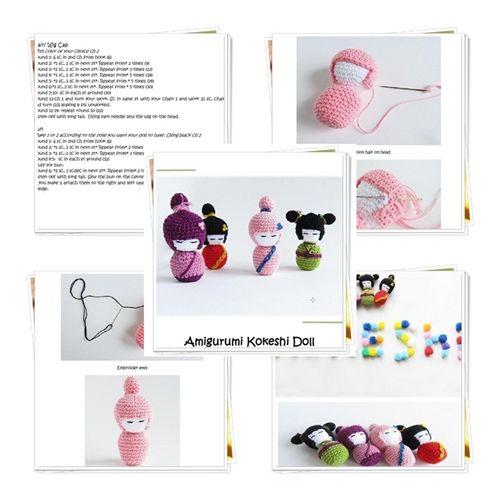 Little Things Blogged: {Amigurumi Kokeshi Doll Pattern}