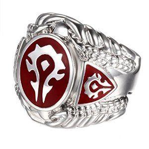 Warcraft Alliance Horde Symbol Ring