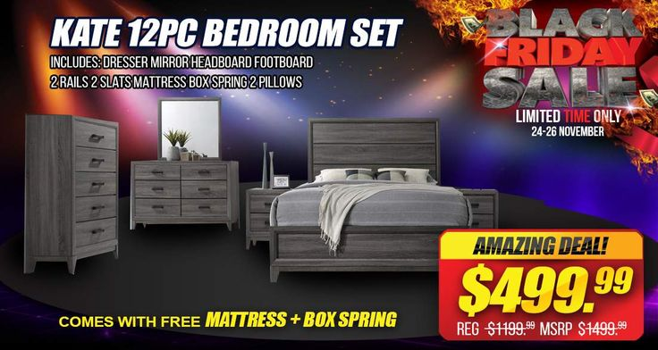 BLACK FRIDAY SPECIAL! Kate 12PC Complete bedroom set only $499.99! Sale ends on Deal ends on Sunday, Nov 26th at Midnight  Order online at: www.JMDFurniture.com  or visit one of our locations in DMV! Only at JMD Furniture  #JMDFurniture #BLACKFRIDAY #Supersale #Platformbed #Liquidation #JMDPrice #JMDValue #JMDGuarantee
