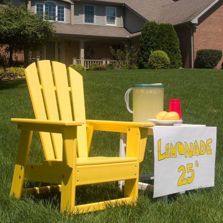 Outdoor POLYWOOD® South Beach Recycled Plastic Kids Adirondack Chair Pacific Blue - SBD12PB