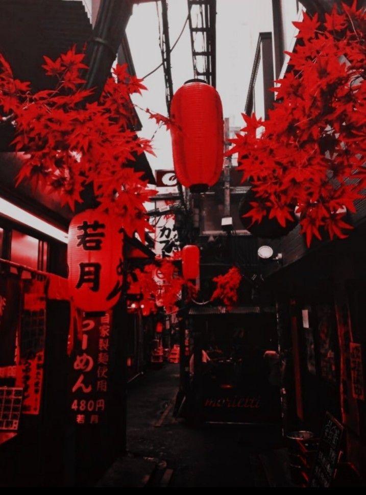 ت نس ـيقات م غل ق Red And Black Wallpaper Aesthetic Japan Red Aesthetic Grunge