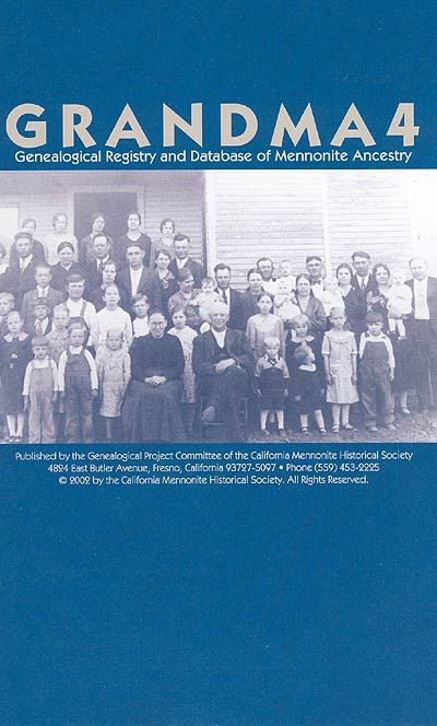 Grandma 7   Genealogical Registry and Database of Mennonite Ancestry