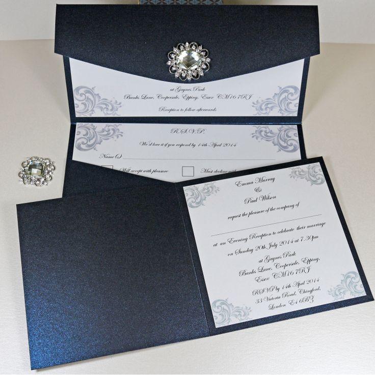 13 best Elegant Vintage Jewel Wedding Invitations images on ...