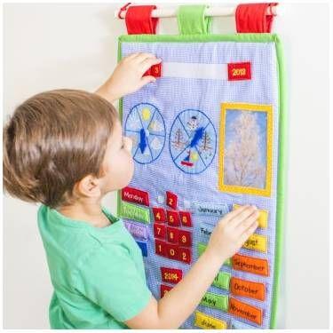 Oskar&Ellen Calendario per Bambini con Etichette in Inglese