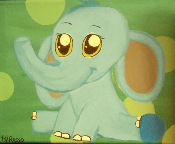 Hey, I found this really awesome Etsy listing at https://www.etsy.com/ca/listing/293451669/cute-nursery-elephant-acrylic-painting