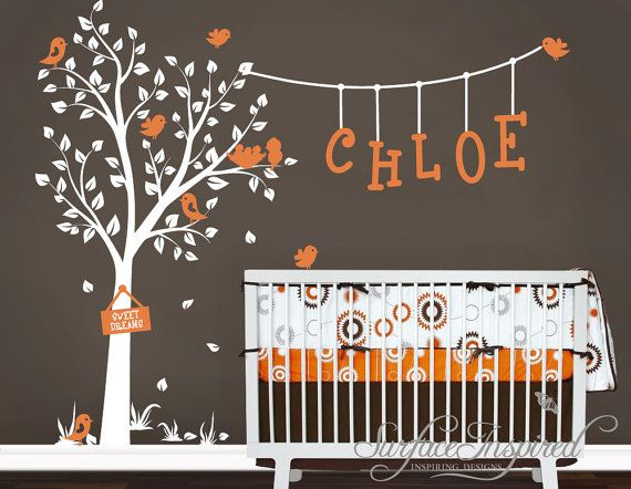 Nursery Wall Decals Cute Garden Tree with by SurfaceInspired, $99.00