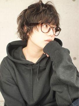 ヘアーデザイン アルエ(HAIR×design ARUE)黒髪マッシュレイヤーショート☆くせ毛風*