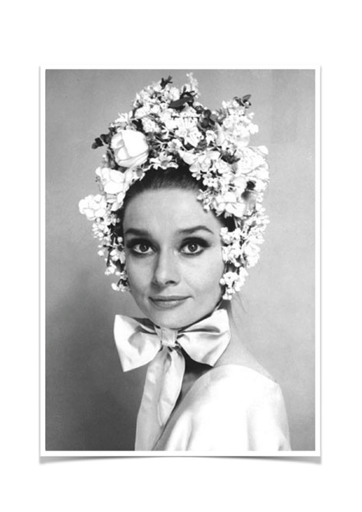 #Audrey Hepburn in her easter bonnet