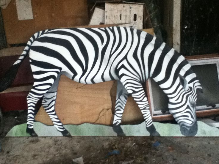 Life size zebra for outdoor installation by Jo Pervan