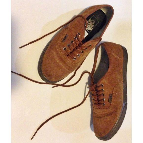 Suede / velvet brown VANS • Used but in good condition Vans Shoes