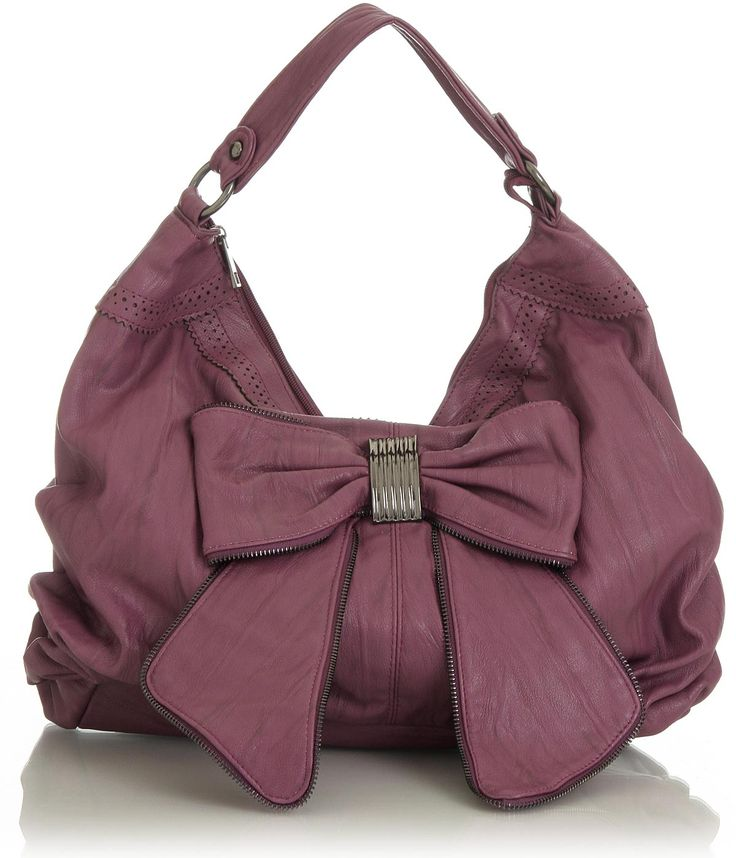 dusty rose hobo with bow