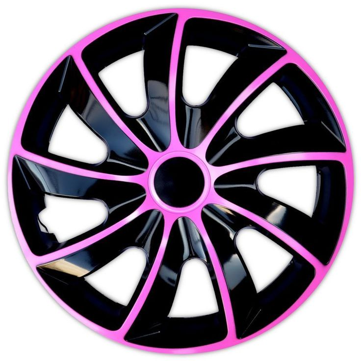 4x14   Wheel trims wheel covers for Vauxhall Agila Corsa   black / pink