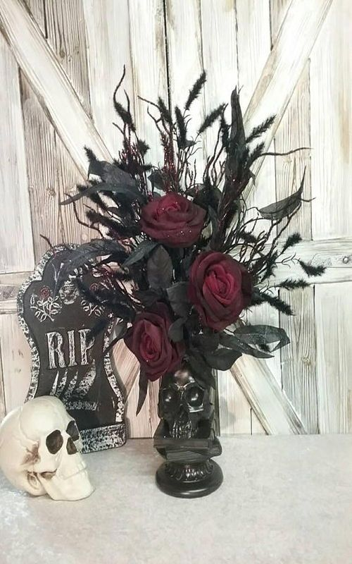 Halloween Centerpiece, Halloween Decor, Skull Decor, DRACULA\u0027S - halloween centerpiece