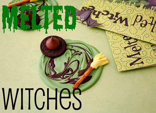 Melted witch treats