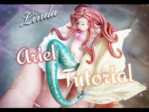 Ariel on a half shell chibi polymer clay tutorial