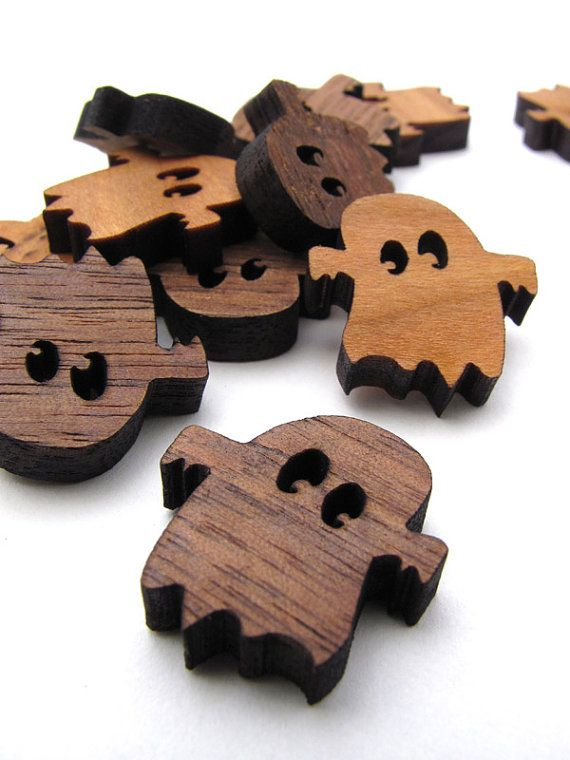 Itsies - Boo Ghost Halloween Charms - Laser Cut Mini Ghosts - Free Shipping - TagT Team . Timber Green Woods Sustainable Forestry Products