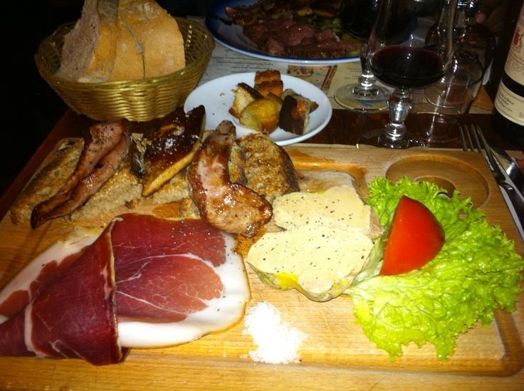 """""""Chez Papa"""" Planche de foie gras et canard"""