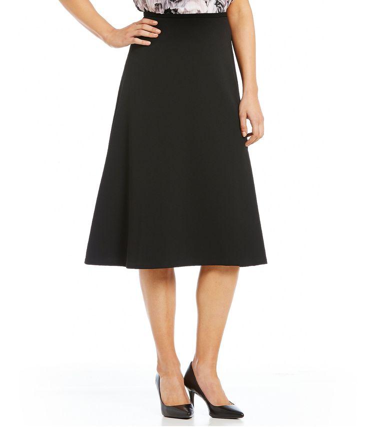 Calvin Klein Scuba Crepe MIdi ALine Skirt #Dillards