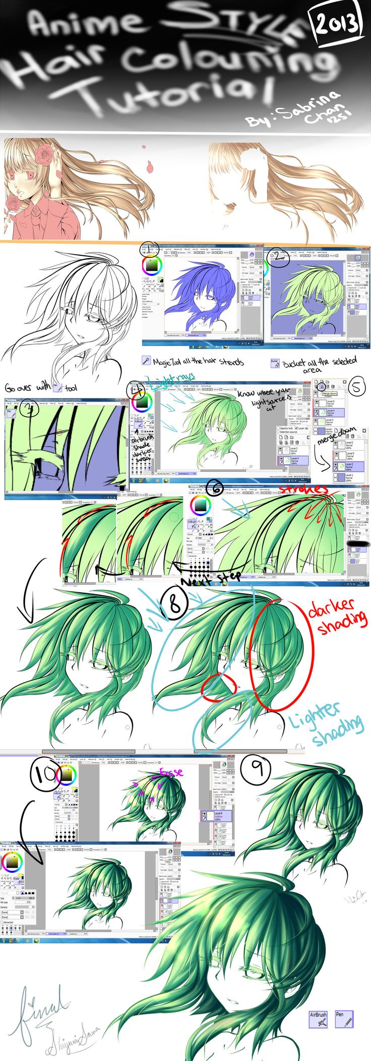 ShiyumiSama: Hair Colouring Tutorial by SabrinaTang