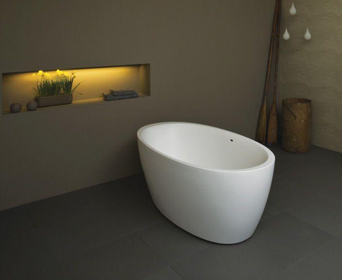 Freistehende Badewanne / oval / aus Stein - AZUR - BALTECO