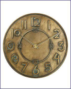 Frank Lloyd Wright Exhibition Font Wall Clock