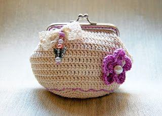 Monedero de crochet con Boquilla Tutorial