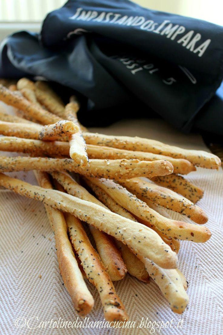 Cartoline dalla mia Cucina: Grissini di semola di grano duro ai semi di sesamo...