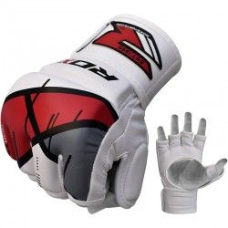 RDX Training Leather-X MMA Grappling Gloves