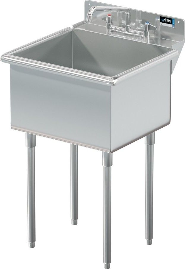 Griffin Medina Stainless Steel Utility Sink Stainless Steel Utility Sink Sink Utility Sink Deep stainless steel utility sink