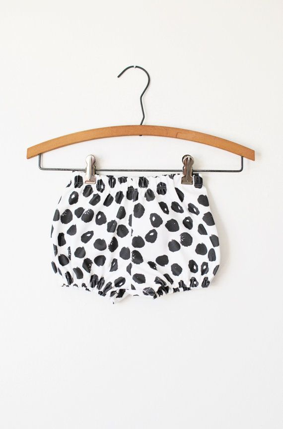 Organic baby bloomers in ink spots, baby bloomers, baby