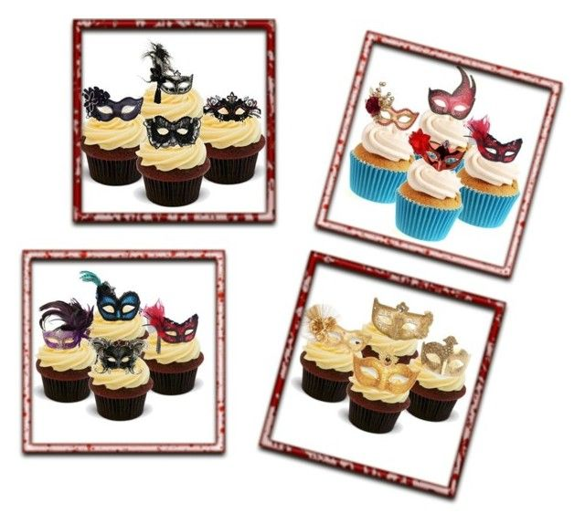 """""""masquerade cupcakes"""" by smile2528 ❤ liked on Polyvore"""
