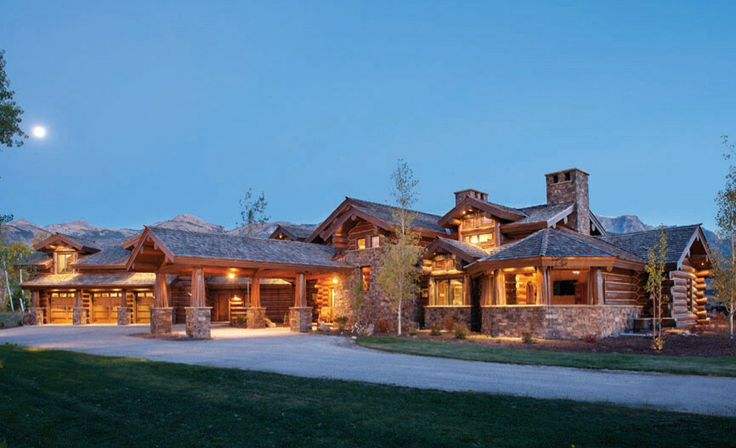 The house from epic log cabins tv show epic log homes for Custom home builders wyoming