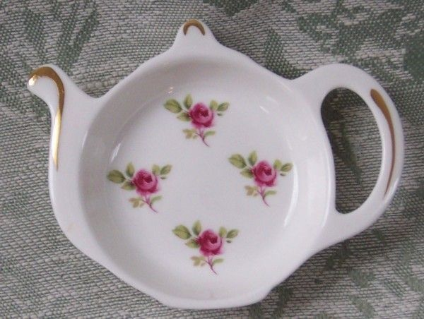 british teapot teabag holder | english bone china tea bag holder caddies prev next back to english ...