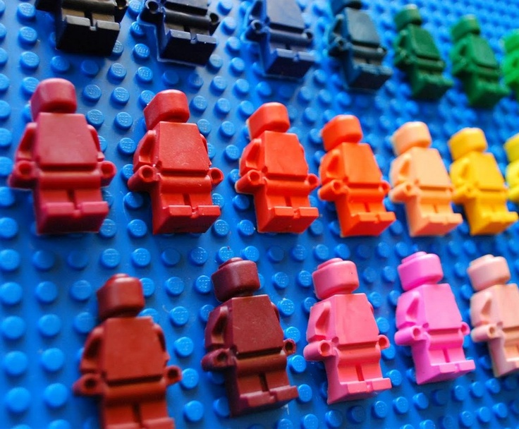 lego crayons 100 pieces  pink  red  orange  yellow  green