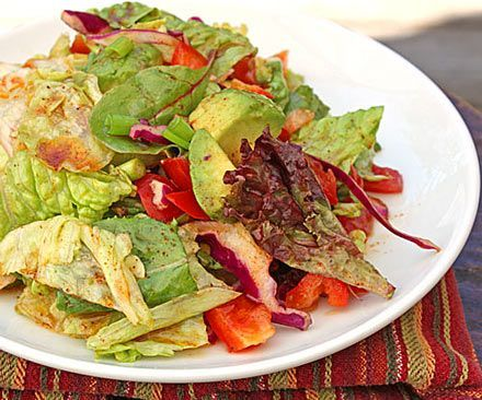 Southwestern Vinaigrette  - Williams-Sonoma  ~  Makes about 3/4 cup.    1/4 cup red wine vinegar  3 tablespoons honey  1 1/4 teaspoon chili powder  1/4 teaspoon cayenne pepper  5 tablespoons olive oil  salt to taste    Whisk dressing ingredients together in a small bowl and toss with salad just before serving. Refrigerate leftover dressing.
