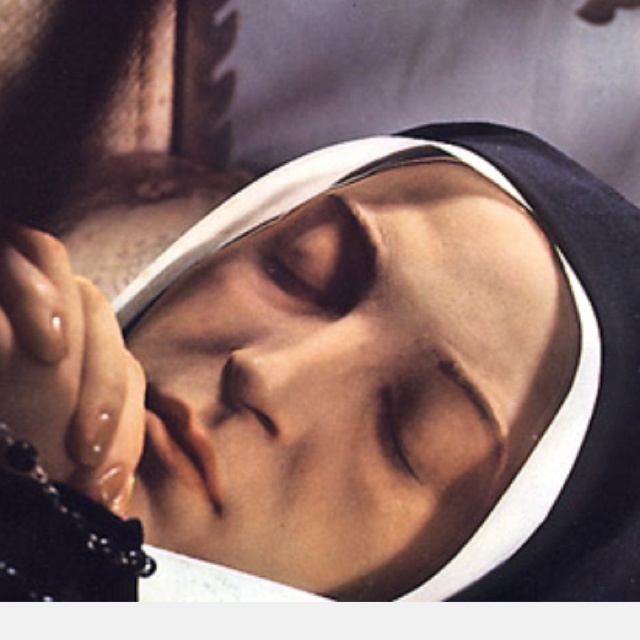 The incorrupt body of St. Bernadette Soubirous, who saw Our Lady of Lourdes