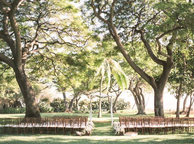 Maui Wedding Ceremony Setup Luxury Planner Olowalu Plantation House