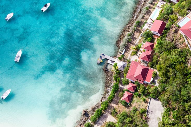 Beach Aerials from Bahamas and St. Barth