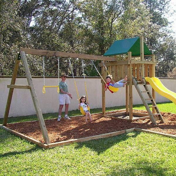 Best 25 swing sets ideas on pinterest patio swing set for Diy kids swing