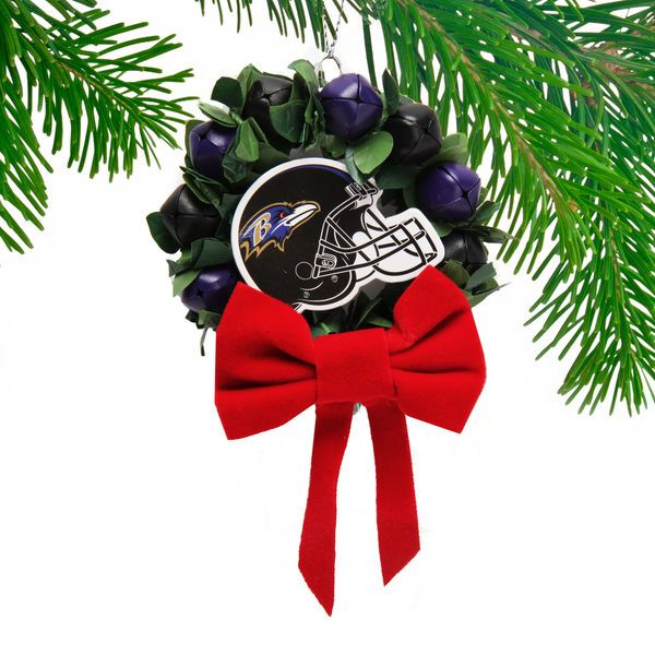 Baltimore Ravens Wreath Bell Ornament - $5.99