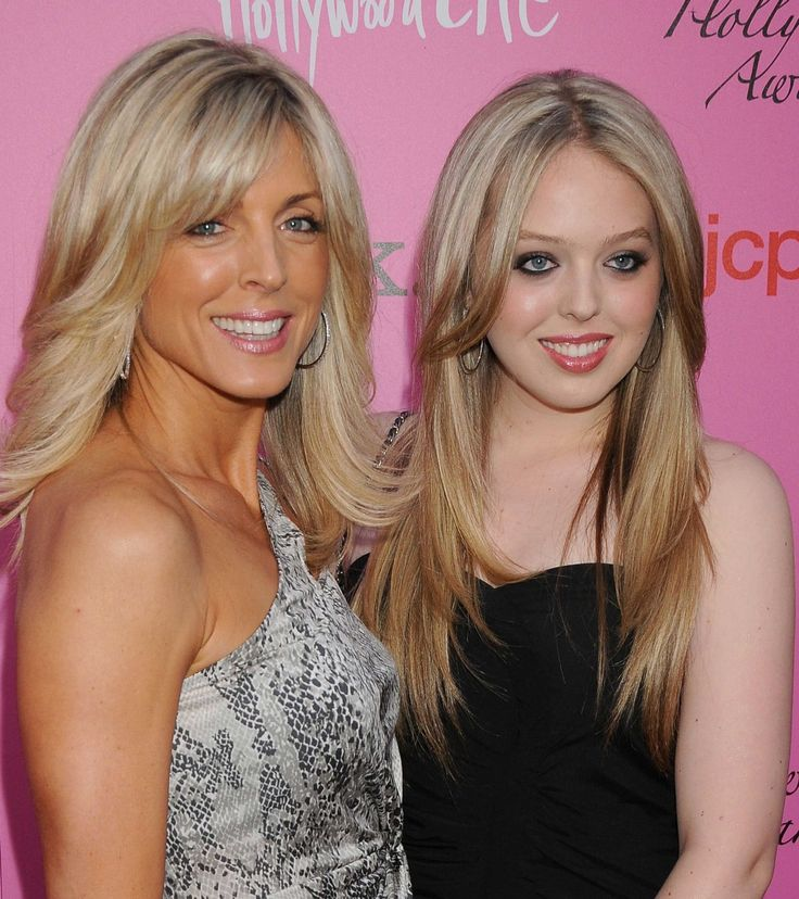 Marla Maples & daughter Tiffany Trump. 3. Her mom is her BFF.