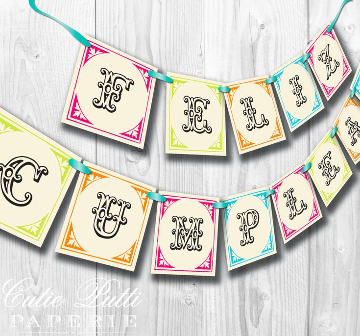 25+ Best Ideas About Printable Birthday Banner On