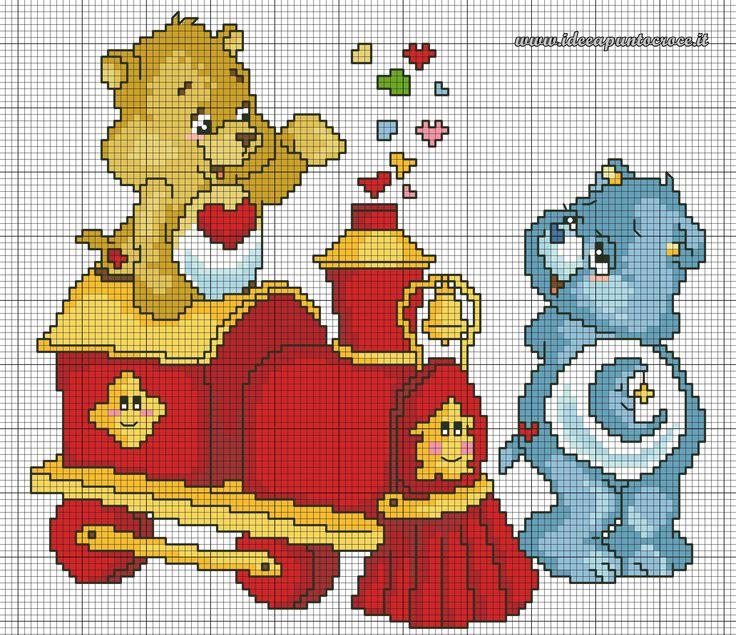17 migliori immagini su schemi orsetti del cuore su for Orsetti a punto croce schemi