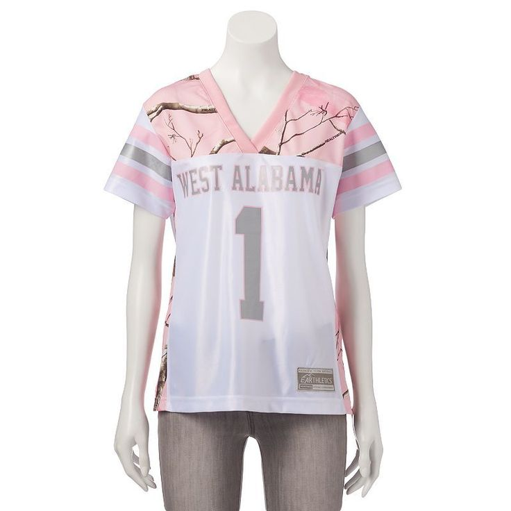 Women's Realtree University of West Alabama Game Day Jersey, Size: Medium, White