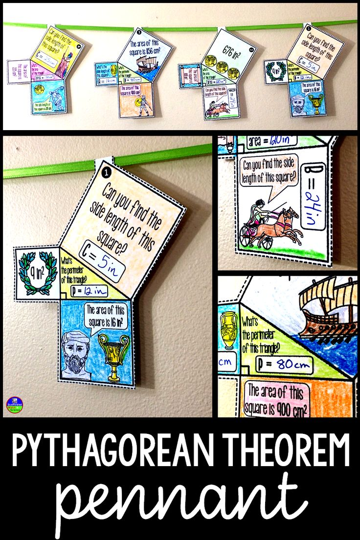 In This Collaborative Activity, Students Work With The Pythagorean Theorem  To Find Missing Side Lengths
