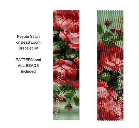 Bracelet Kit Roses are Coral  Peyote Stitch от PalacePatterns