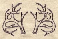 Antler Pattern on baby blankie