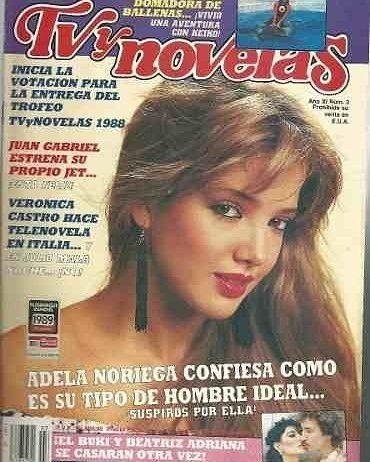 regram @tvynovelasmex Vean la hermosa portada que nos encontramos! Adela Noriega nos platicó cómo era su hombre ideal... Era el año 1988  #TBT . . . #TVyNovelas #AdelaNoriega #Telenovela #Televisa @tvynovelas_usa @tvynovelas @telenovelasmx @infonovelas