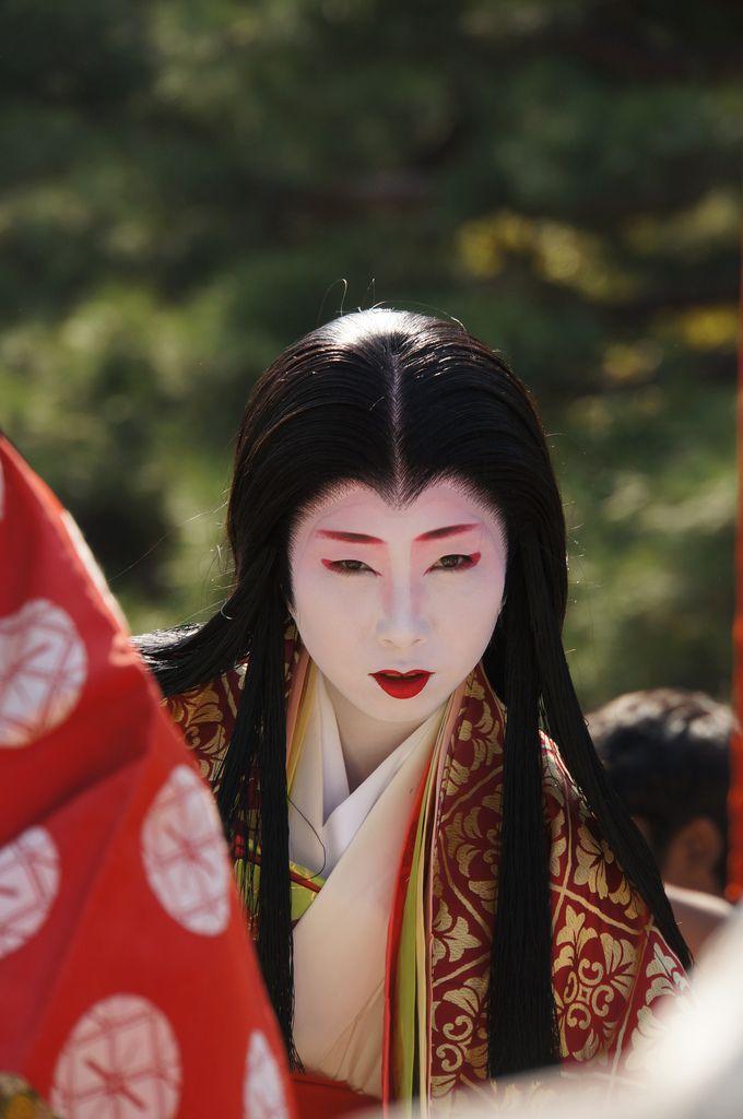 Geiko Tomoka (Pontocho) as Murasaki Shikibu at Jidai Matsuri, Japan